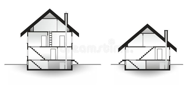 House profile royalty free illustration