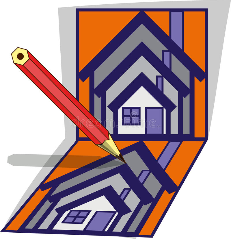 Download House project stock vector. Image of architecture, illustration - 35844310