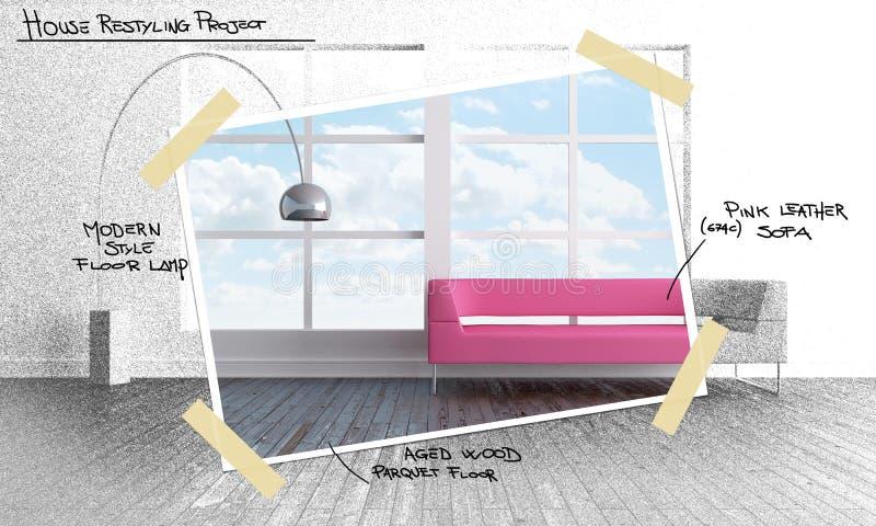 house projektet som restyling vektor illustrationer