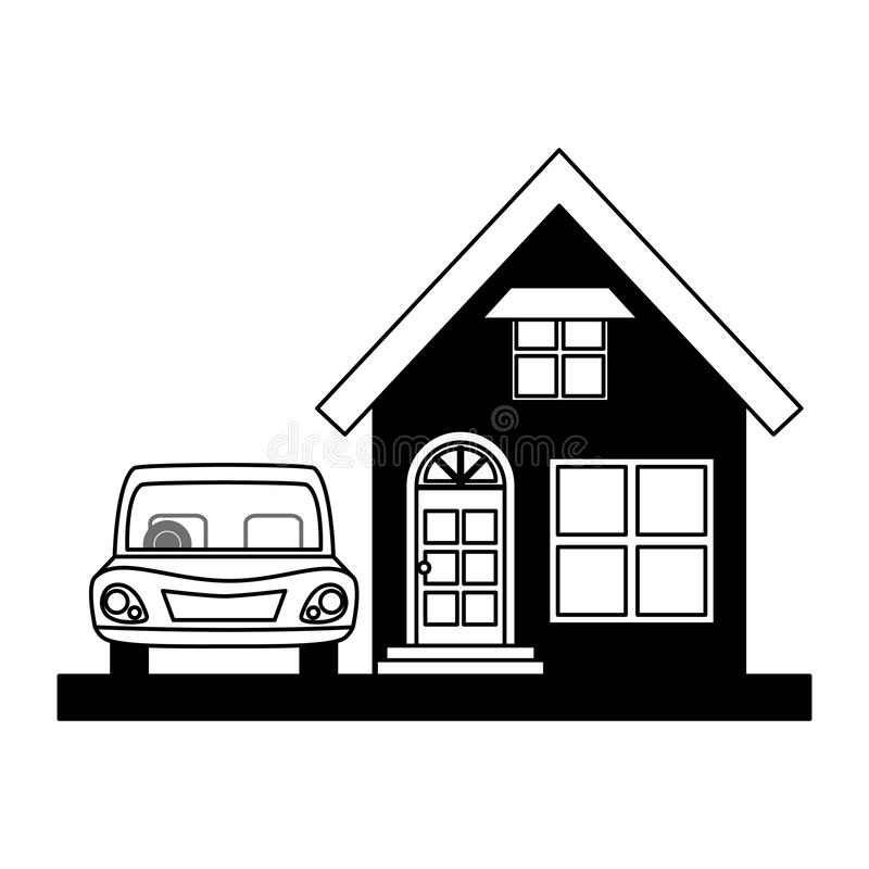 House property with car. Vector illustration design vector illustration design vector illustration