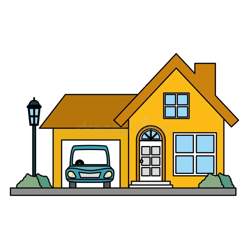 House property with car. Vector illustration design stock illustration