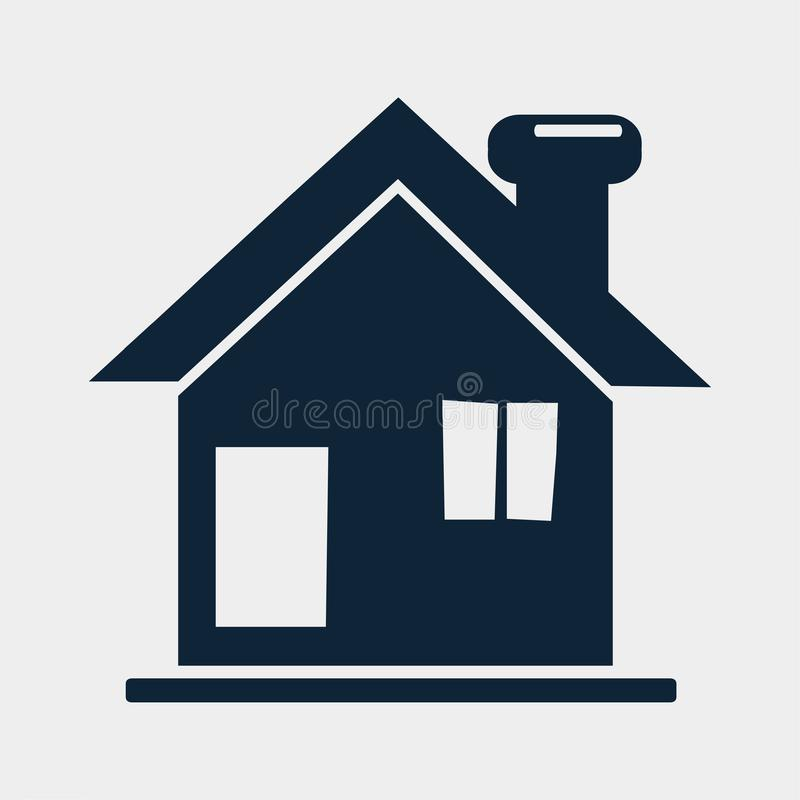 House for property real estates icon vector illustration royalty free stock image