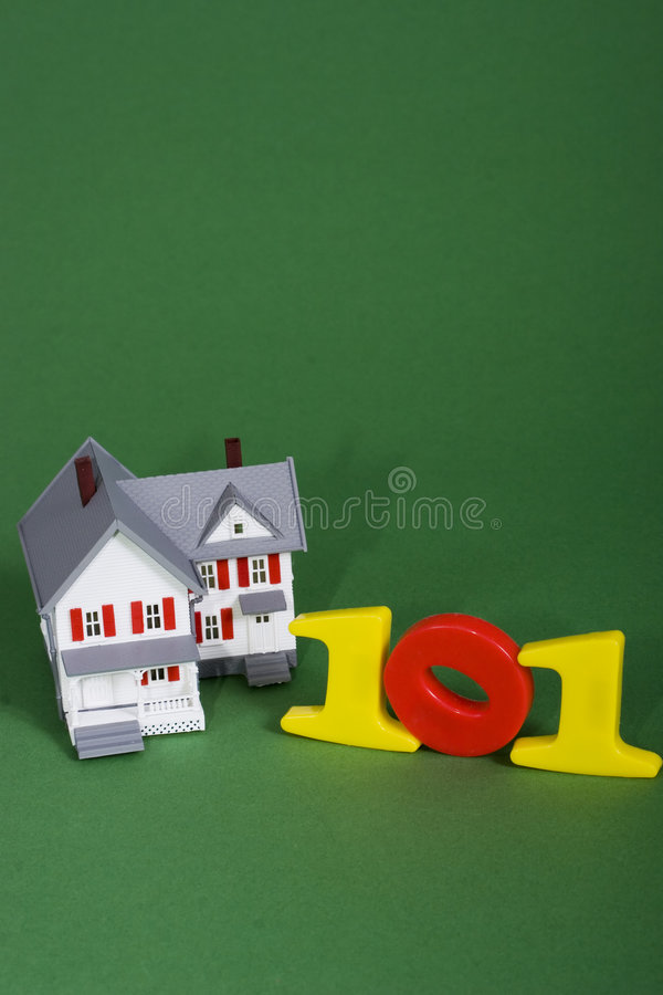 House purchasing 101. A house with the numbers 101 stock photos