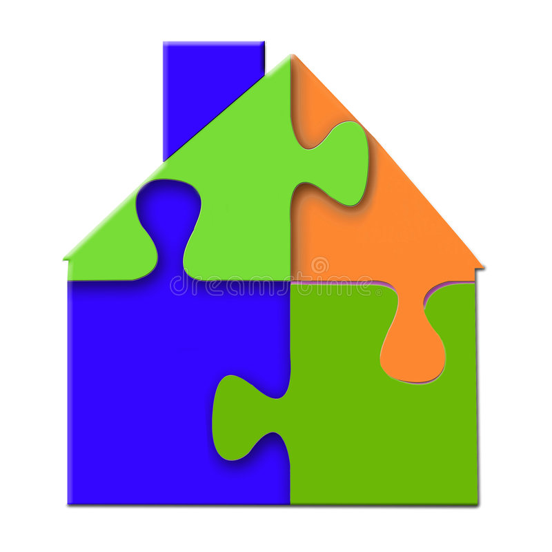 House Puzzle vector illustration