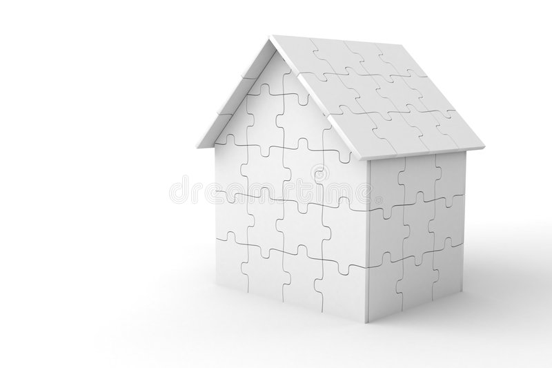 House of puzzle pieces stock illustration