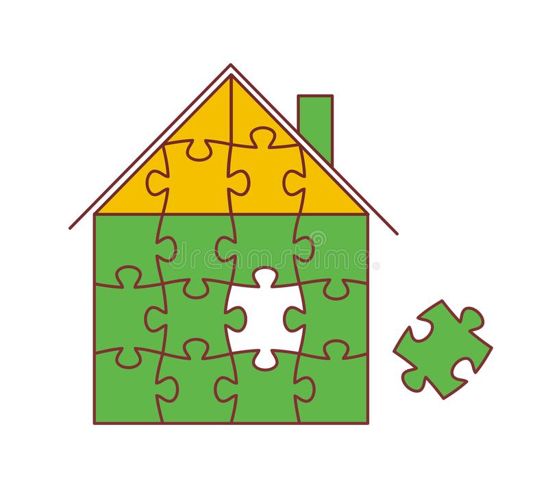 Download House from puzzles stock vector. Image of creative, connect - 12108979