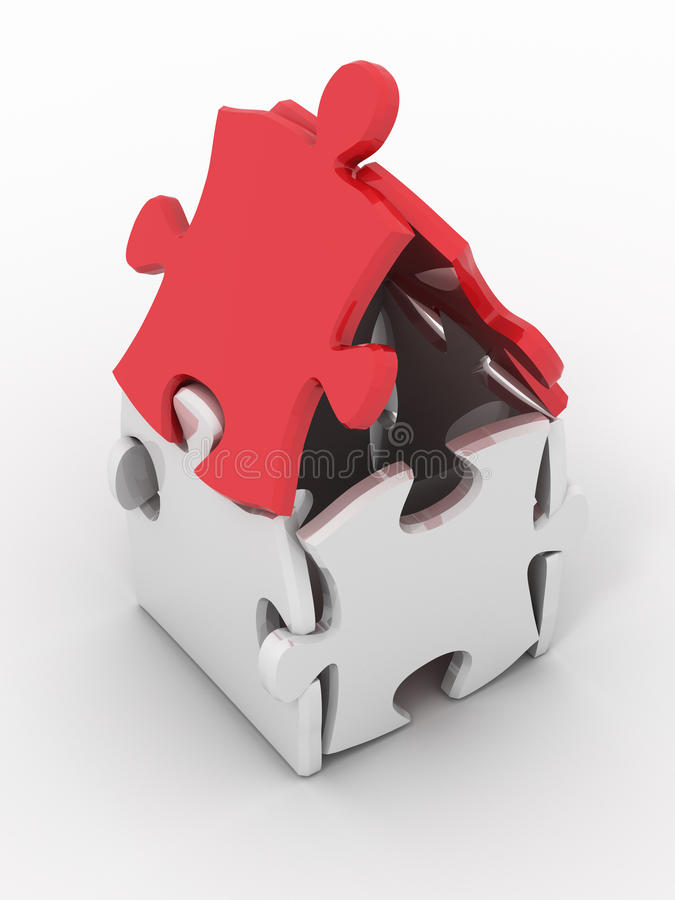 Download House from puzzles stock illustration. Image of block - 12561906