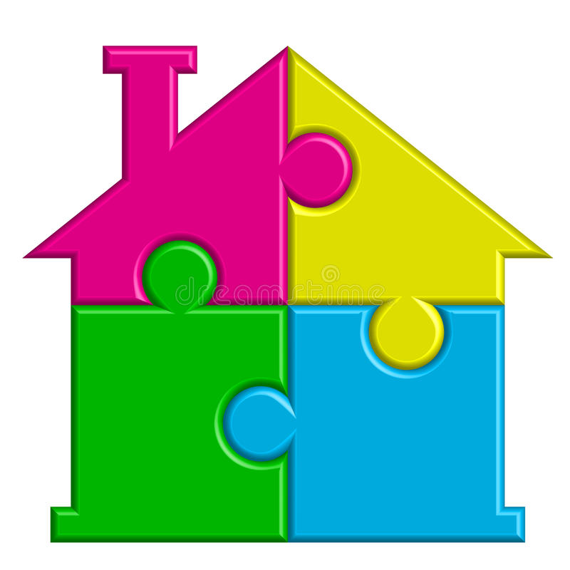 Download House from puzzles stock vector. Illustration of brokerage - 25035239