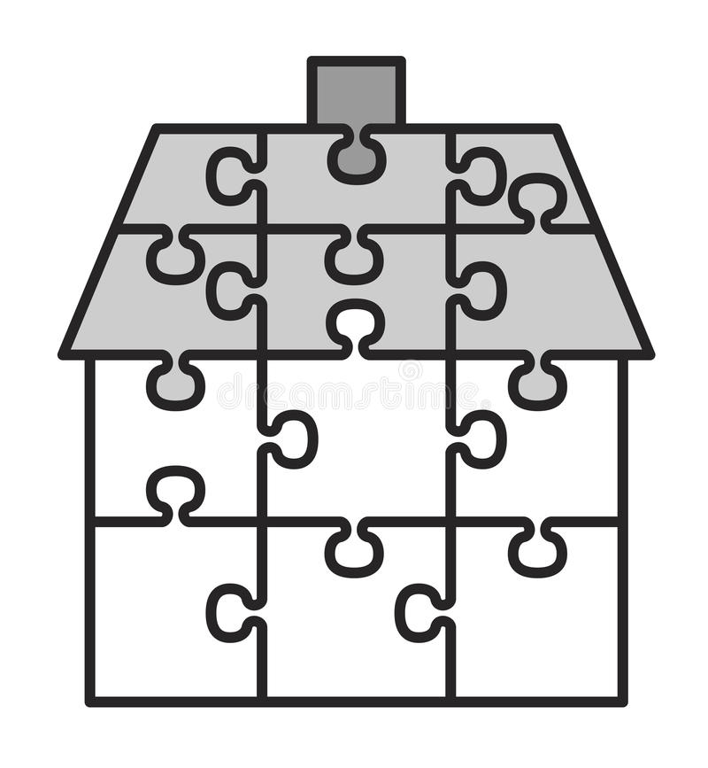 Download House from puzzles stock vector. Image of business, connection - 25055509