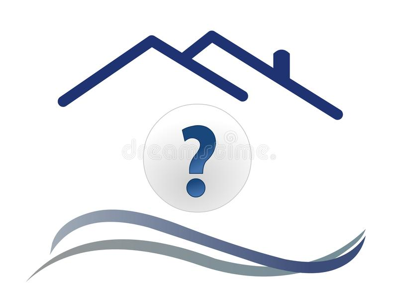 Download House question with wave stock vector. Image of creative - 12884612