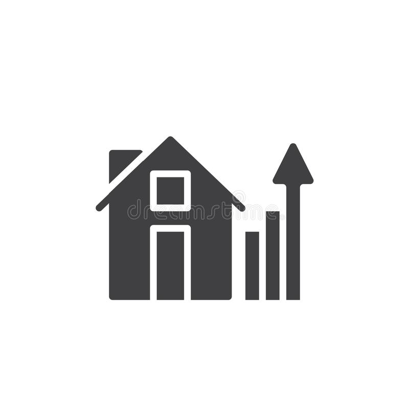 House and real estate business graph icon vector vector illustration
