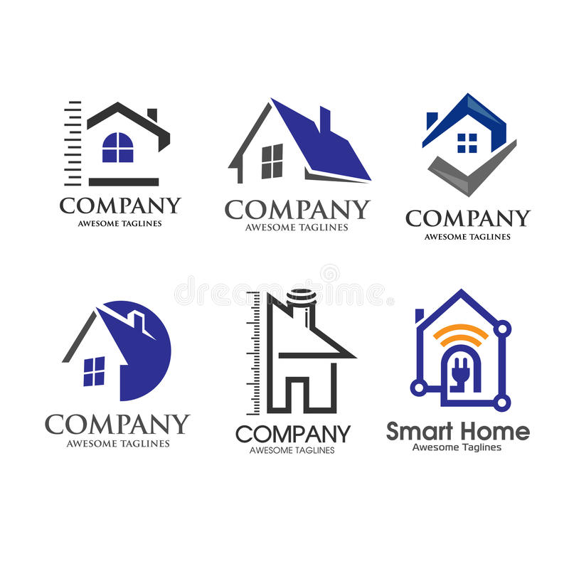 House and real estate symbol minimalist concept stock for Minimalist house logo