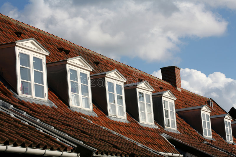 House red roof royalty free stock photos