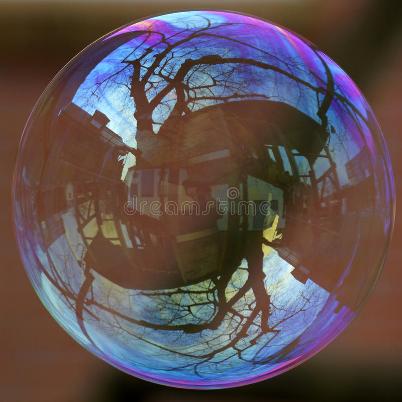 The housing market is a soap bubble stock photo