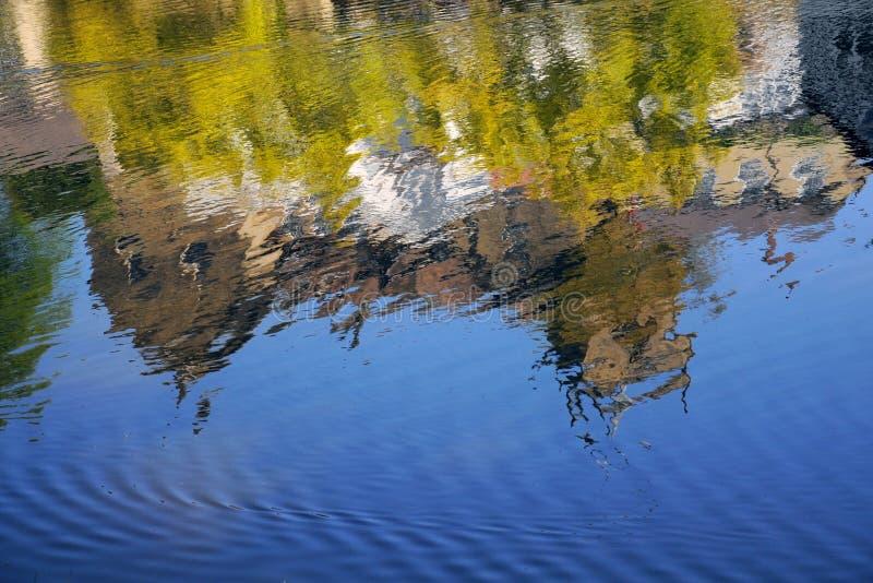 Download House Reflection In River Stream, Knaresborough UK Stock Image - Image: 25083589