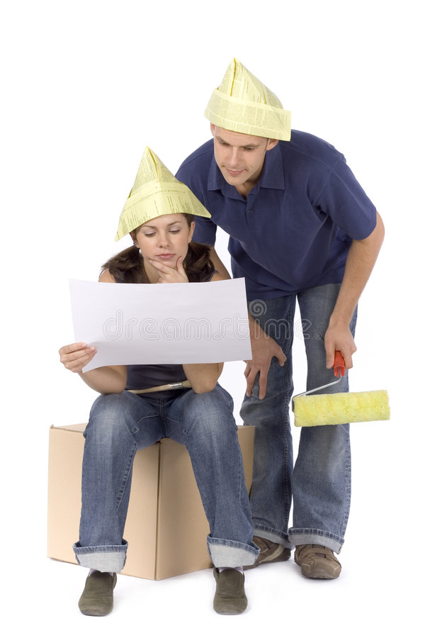 House renovation stock image