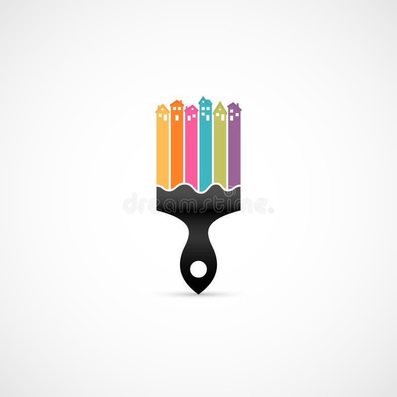 House renovation icon stock illustration