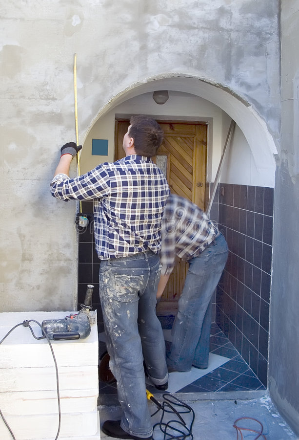 House renovation works stock photography