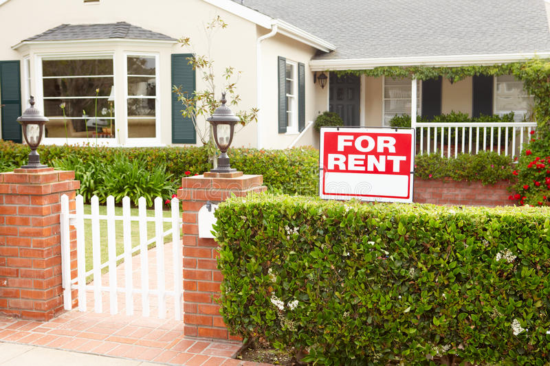 House for rent royalty free stock photos