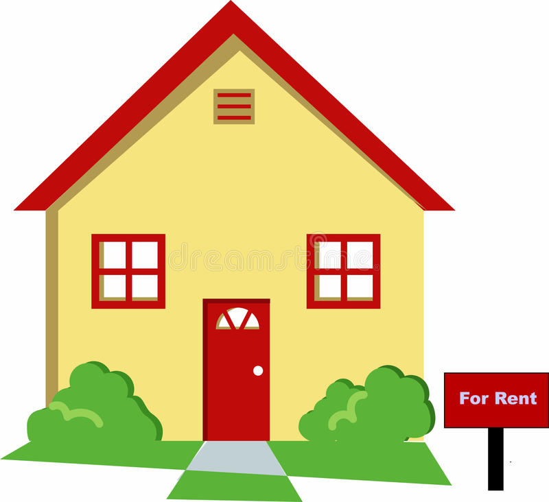 Download House for rent stock illustration. Image of promotion - 9553084