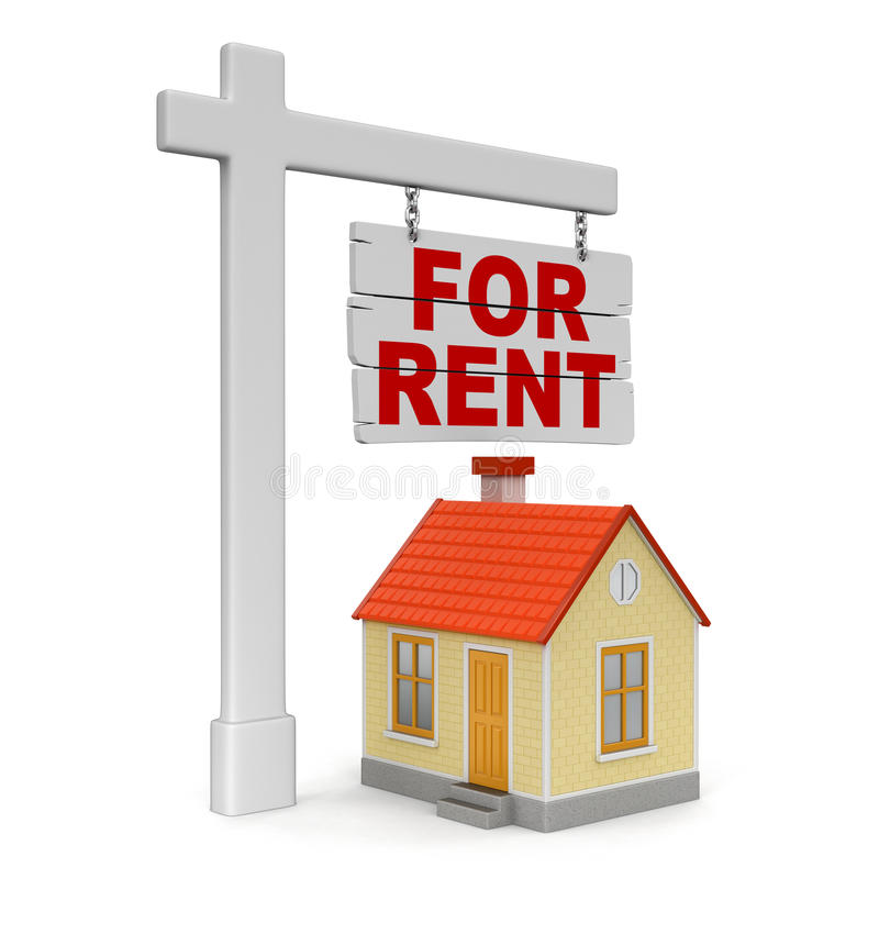 Free Houses For Rent: House For Rent (clipping Path Included) Stock Illustration