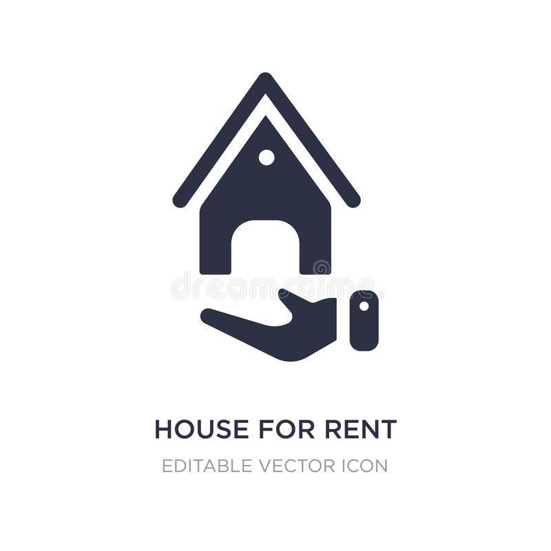 House for rent icon on white background. Simple element illustration from Nature concept. House for rent icon symbol design stock illustration