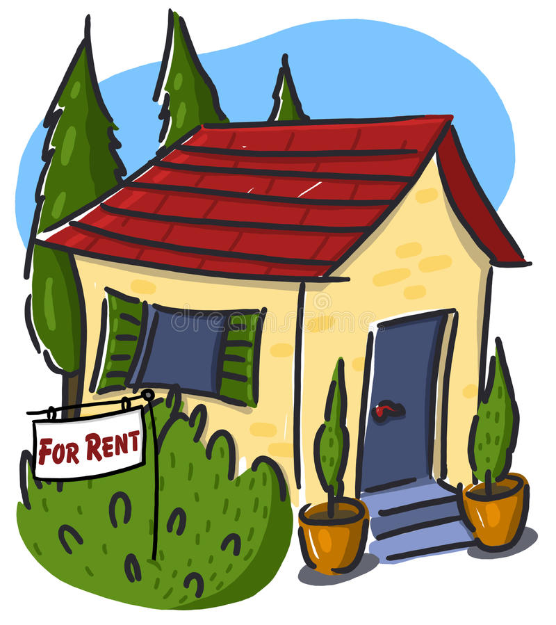 Apartment House For Rent: House For Rent Illustration Stock Illustration