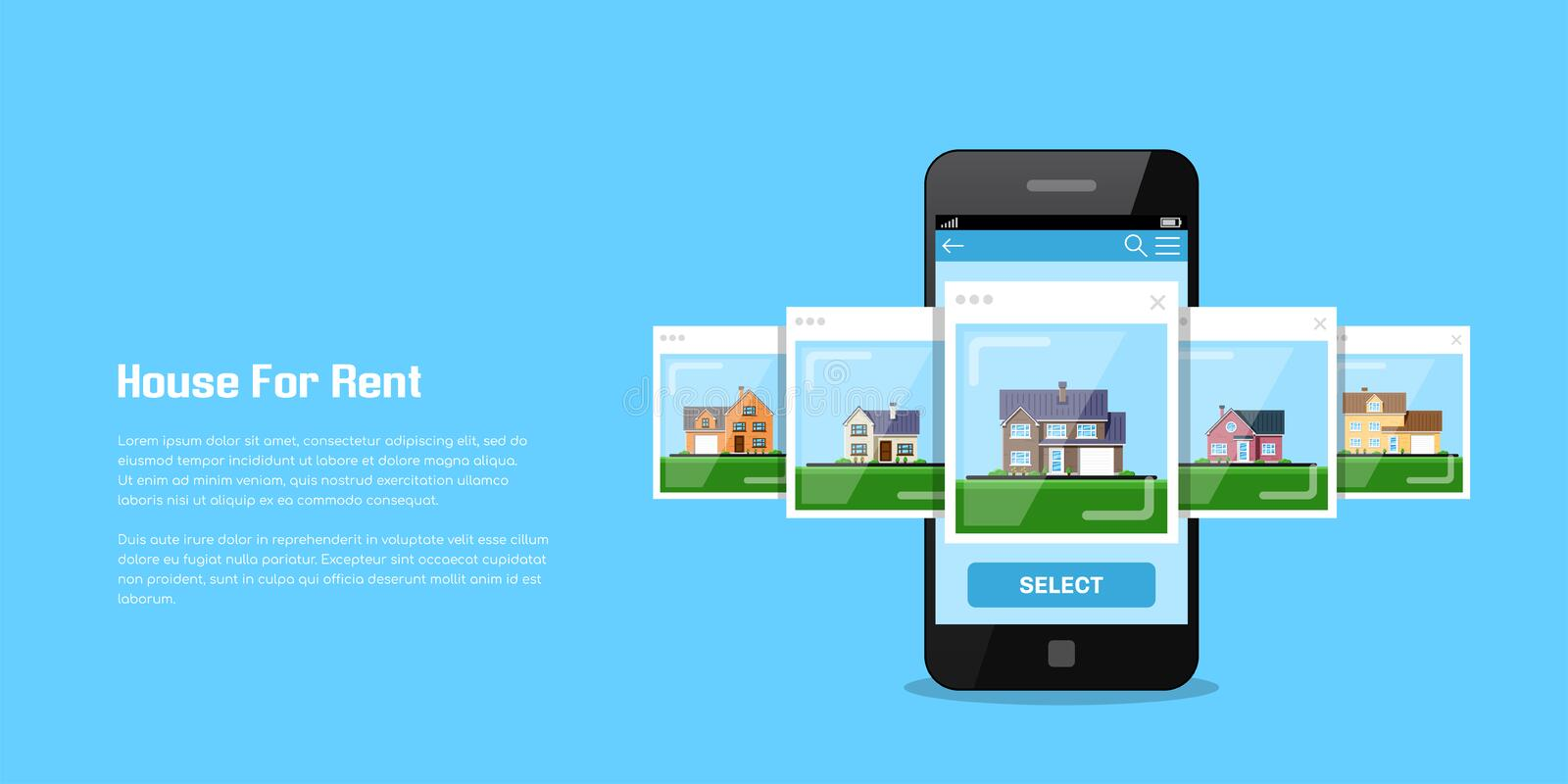 House for rent royalty free illustration