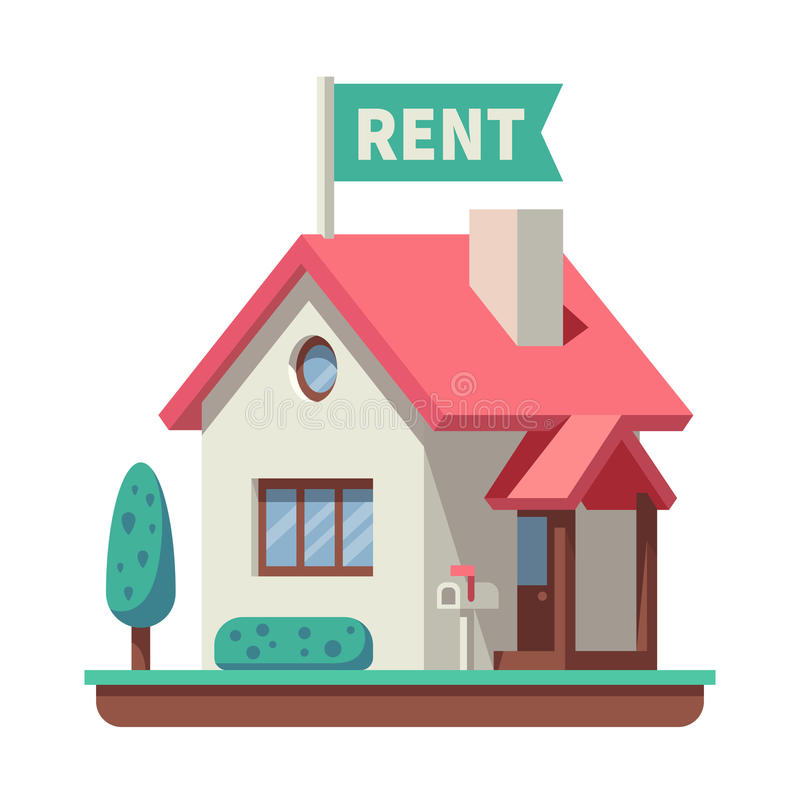 For Rental: House For Rent Stock Vector. Illustration Of Graphic