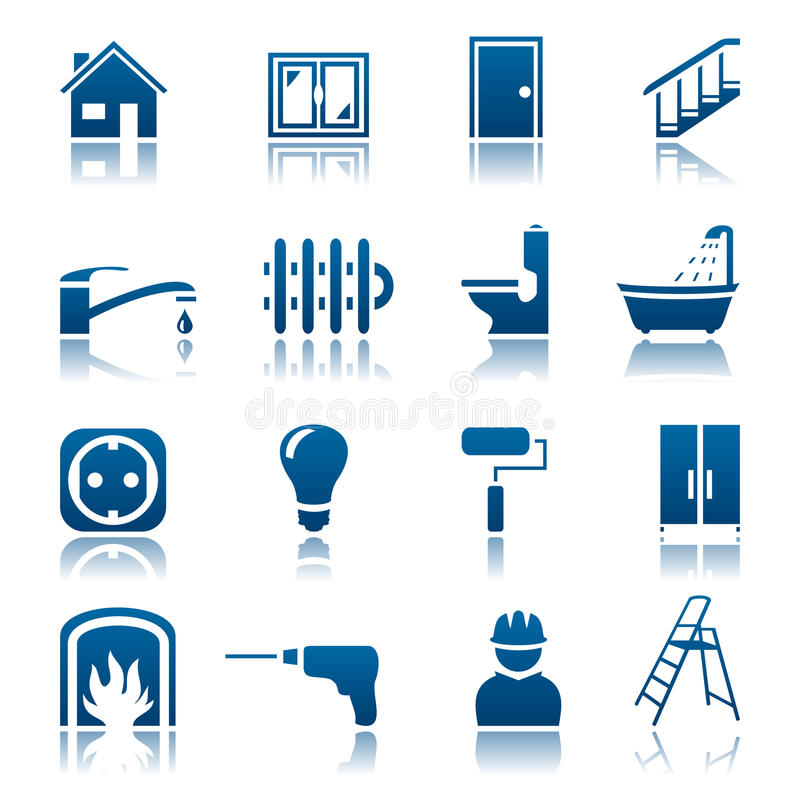 House repair icon set stock illustration