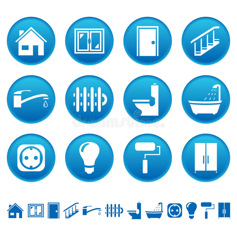 House repair icons royalty free illustration