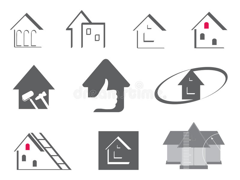 House And Repair Symbols Stock Image