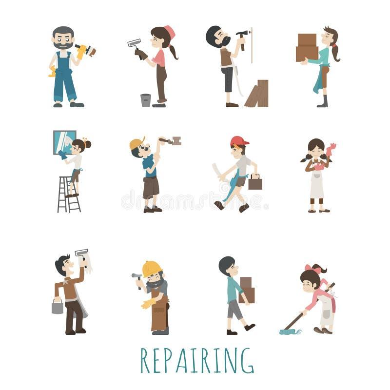 house reparationen vektor illustrationer