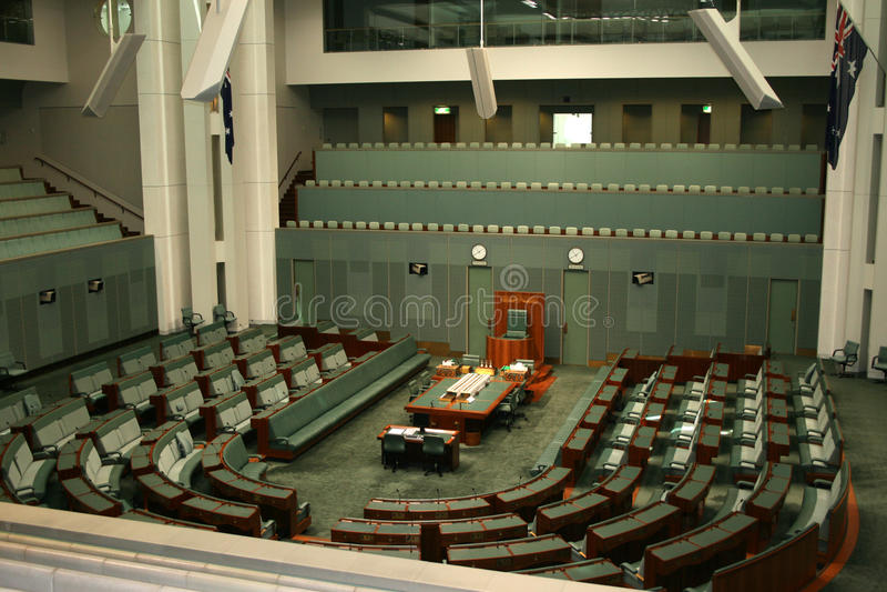 House of Representatives Canberra Australia stock image