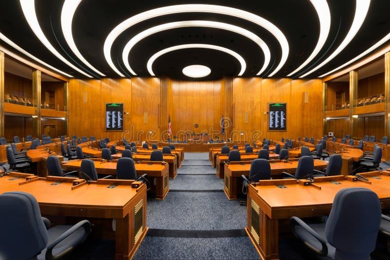 North Dakota House Chamber stock photo
