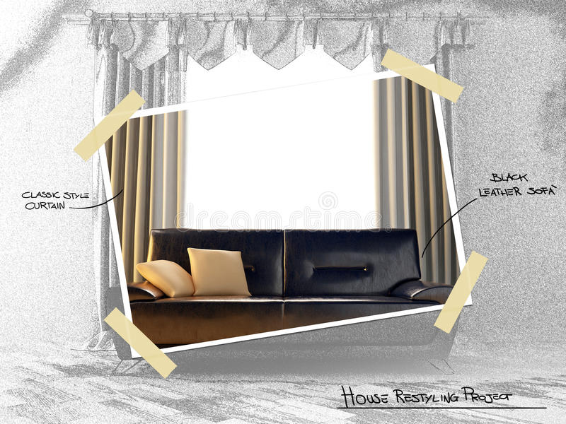 House Restyling Project Stock Photos
