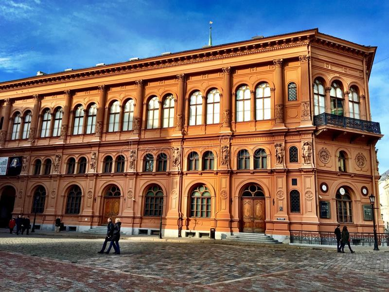 The house of Riga bourse art museum. royalty free stock photography