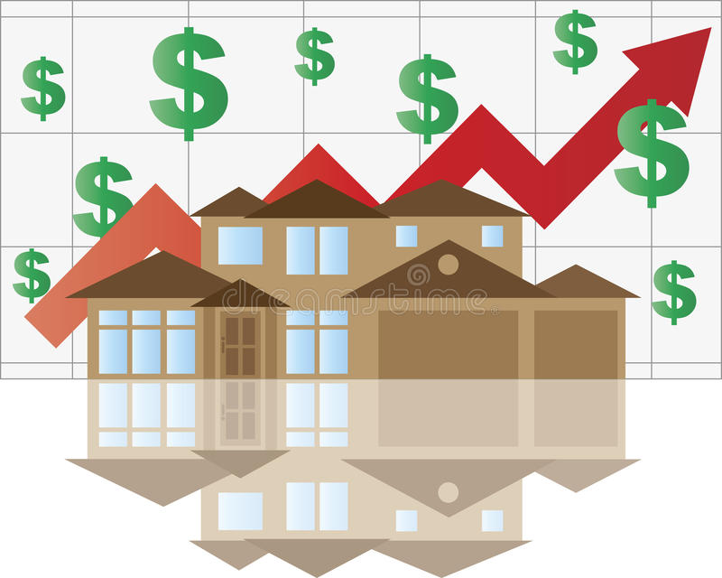 House Rising Value Graph Royalty Free Stock Photos