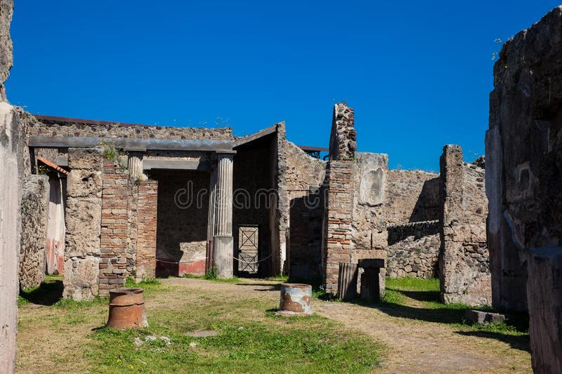 House of Romulus and Remus at the ancient city of Pompeii. The House of Romulus and Remus at the ancient city of Pompeii royalty free stock images