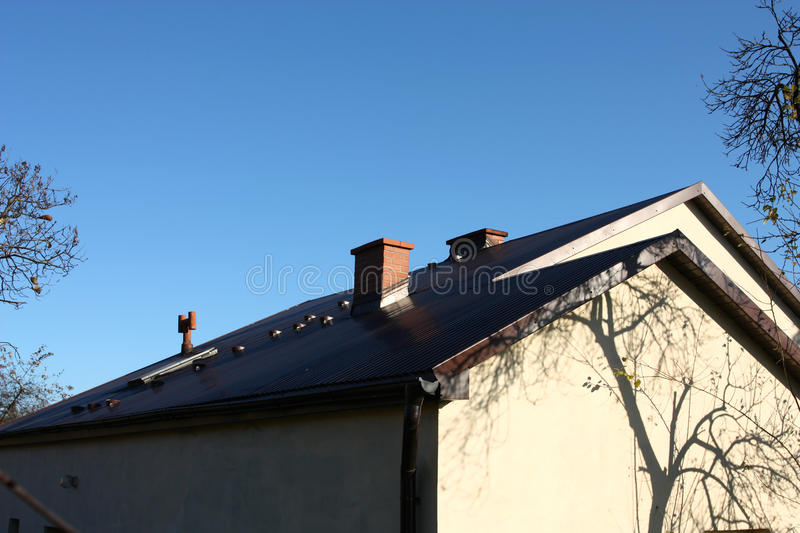 Download House roof stock image. Image of gutter, architecture - 17128679