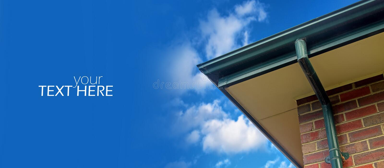 House roof with the space. House roof with the copy space royalty free stock photography