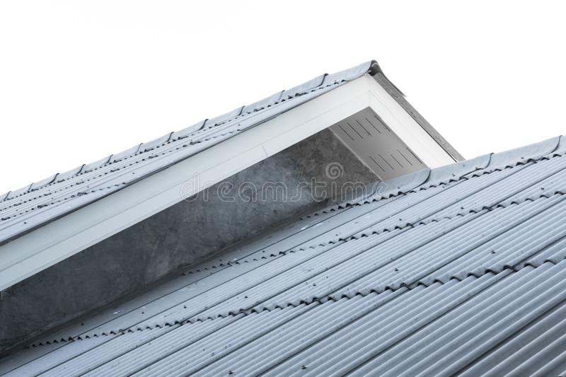 House roof ,generic view to facade of new house royalty free stock photography