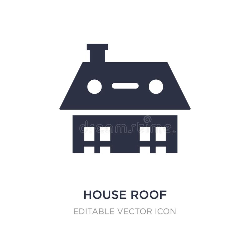 house roof icon on white background. Simple element illustration from Buildings concept vector illustration