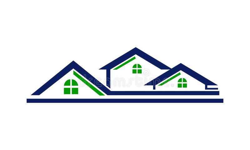 House Roof Line stock illustration