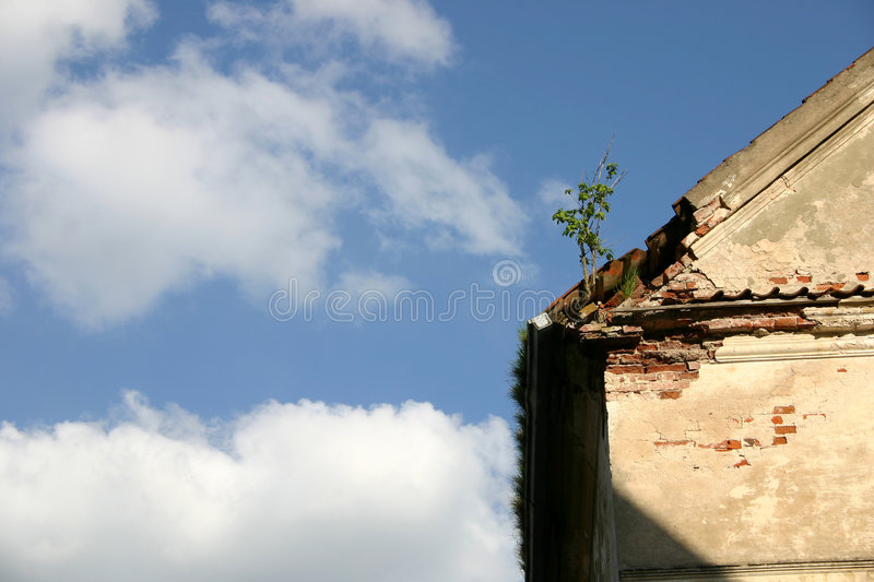 House roof and the sky stock images