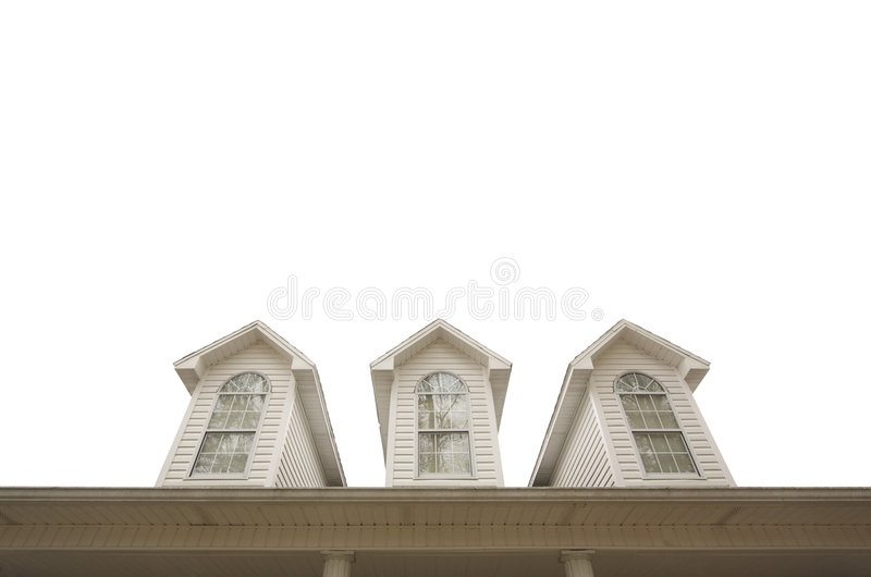 House Roof And Windows Royalty Free Stock Image