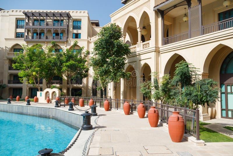 House`s internal garden in Dubai stock photo