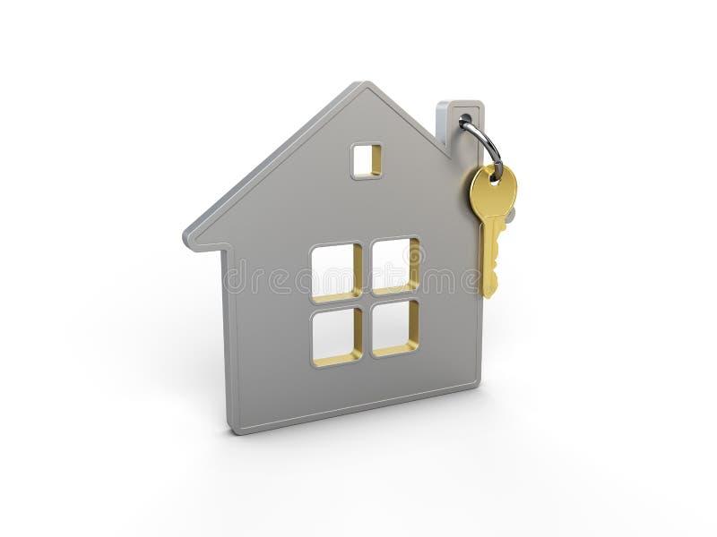 House's keys consept new home, 3d illustration.  royalty free stock photo