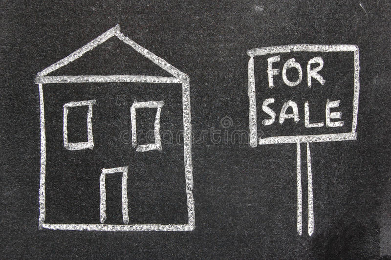 House for sale stock image