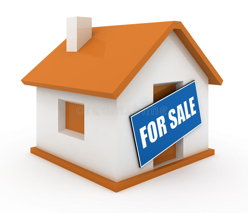 House for sale stock illustration